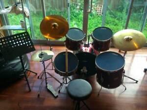 DXP Drum Kit with Tama crash and Schalloch ride Alphington Darebin Area Preview