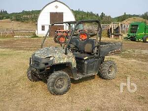 UNRESERVED AUCTION - 2 POLARIS ATVS, 1 WITH TRACKS