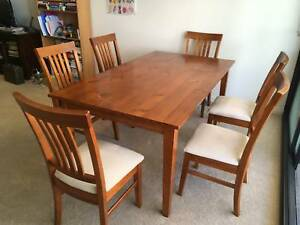 Dining table and 6 chairs Lyneham North Canberra Preview
