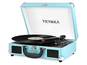 Suitcase Record Player with Bluetooth