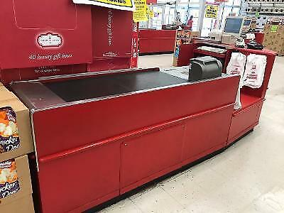 Checkout Counter Store Check Lane Bagging Area Electric Belt Grocery Fixtures