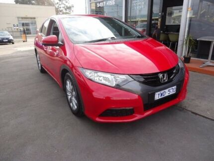 2012 Honda Civic 9th Gen VTi-S Red 5 Speed Sports Automatic Hatchback Alphington Darebin Area Preview