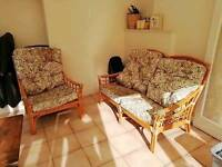 Wicker furniture ideal for cabin conservatory