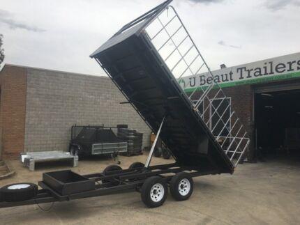 16×8 Flat Top Hydraulic Tipper Tandem with Truck gates , 3500kg