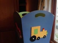 Two wooden toy boxes