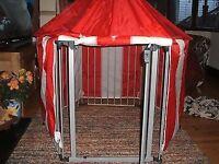 BabyDan Playpen with hexagonal mat and circus tent