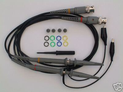 Two 10x 100mhz Oscilloscope Clip Probes Accessaries