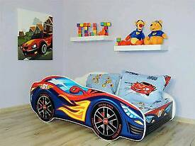 Boys wooden car bed like new £30