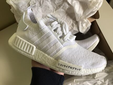 Adidas NMD R1 Boost Mens US 9 Shoes New DS Triple White Japan