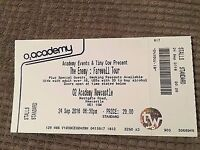 The Enemy Farewell Tour Tickets 2 x Standing Newcastle O2 Academy