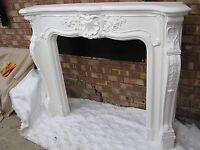Fire surround with matching large mirror