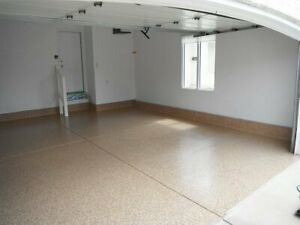 Decorative Chiped Floors, Epoxy, Cabinets, Overhead Storage London Ontario image 10