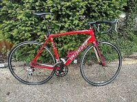 Red white and black specialized allez bike sport