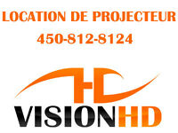 LOCATION : PROJECTEUR HD / ÉCRAN / MICRO / SPEAKER