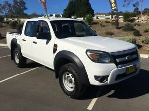 2009 Ford Ranger PK XL Super Cab Hi-Rider White 5 Speed Manual Cab Chassis Lisarow Gosford Area Preview