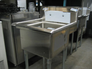 Stainless steel sinks, faucet, tables, shelves on sale