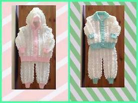 Babies bobble pram suits