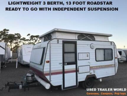 3 BERTH REGISTERED ROADSTAR POP TOP CARAVAN
