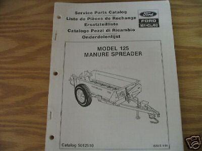 New Holland 125 Manure Spreader Parts Catalog
