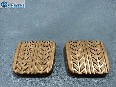 New OEM Mazda black rubber clutch pedal pad or brake pedal pad set S083-43-028