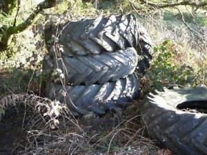 tractor tyres 33`1 x30   loader tyres 1400 x24 Raised garden beds Zeehan West Coast Area Preview