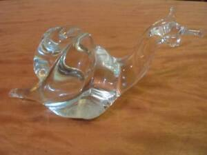 RETRO CRYSTAL SNAIL ORNAMENT (Heavy glass) Como South Perth Area Preview