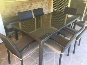 Outdoor Table and 6 Chairs Setting Capalaba Brisbane South East Preview