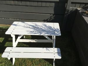 Kids Picnic table - white GC Tarragindi Brisbane South West Preview