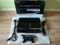 PS3 60gb the compatible one plays all ps1/ps2/ps3 games/ in box with controller/games/cash or swaps