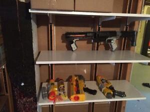 2 nerf guns and some attachments