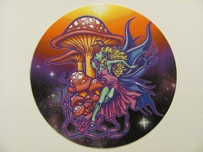 Fairy Mushroom Goth Rainbow Faery Faerie Sticker Car