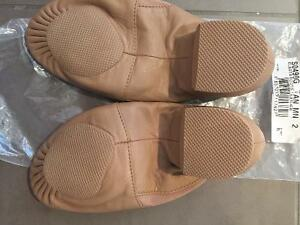 Brand-new beige leather jazz shoes size 2 London Ontario image 2