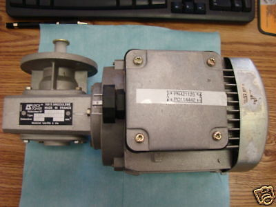 Soltec Motor With Leroy Somer Reducer Gear Attached