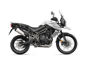 2018 Triumph Tiger 800 XCX Crystal White
