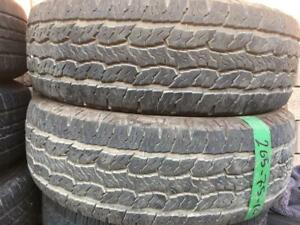 265-75-16 Goodyear 2 Used All Season 90%tread Free Install and balance