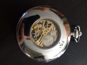 Stainless Steel Poclet Watch w/ Chain Stratford Kitchener Area image 2