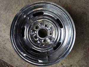 Two Chev Rally Chrome Reverse Rims, 15x6, Code KH