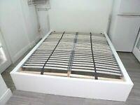 IKEA WHITE EUROPEAN KING SIZE BED FRAME 160x200cm