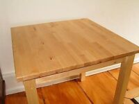 Excellent Oakwood Ikea square table