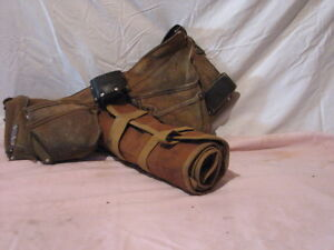 Vintage tool belt and tool wrap
