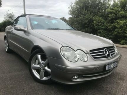 2004 Mercedes-Benz CLK500 A209 Avantgarde Silver 5 Speed Auto Touchshift Cabriolet Hoppers Crossing Wyndham Area Preview