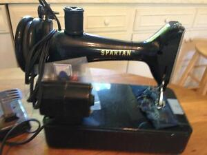 Antique Small Singer Sewing Machine, made in Great Britain, Spa