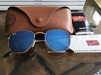 RayBan RB3845N Hexagonal Blue Flash Unisex 51mm Sunglasses.