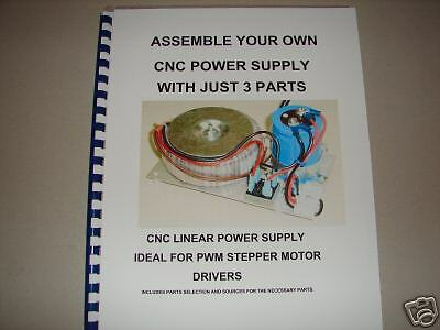 Cnc Stepper Motor Power Supply -build Your Own -book