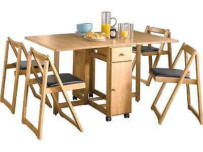 sold stc argos oak finish emperor drop leaf stowable. Black Bedroom Furniture Sets. Home Design Ideas