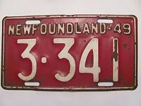 WANTED pre 1949 Newfoundland License Plates  @ $100.00 each