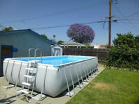 Ultra Frame Pool 24' x 12' plus Saltwater System & Solar Heater