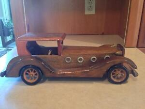 Handcrafted wooden car.