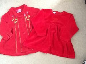 Baby girls red dress size 24 months