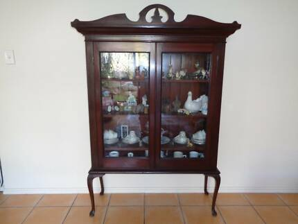 Queen Anne Style Glass Display Cabinet